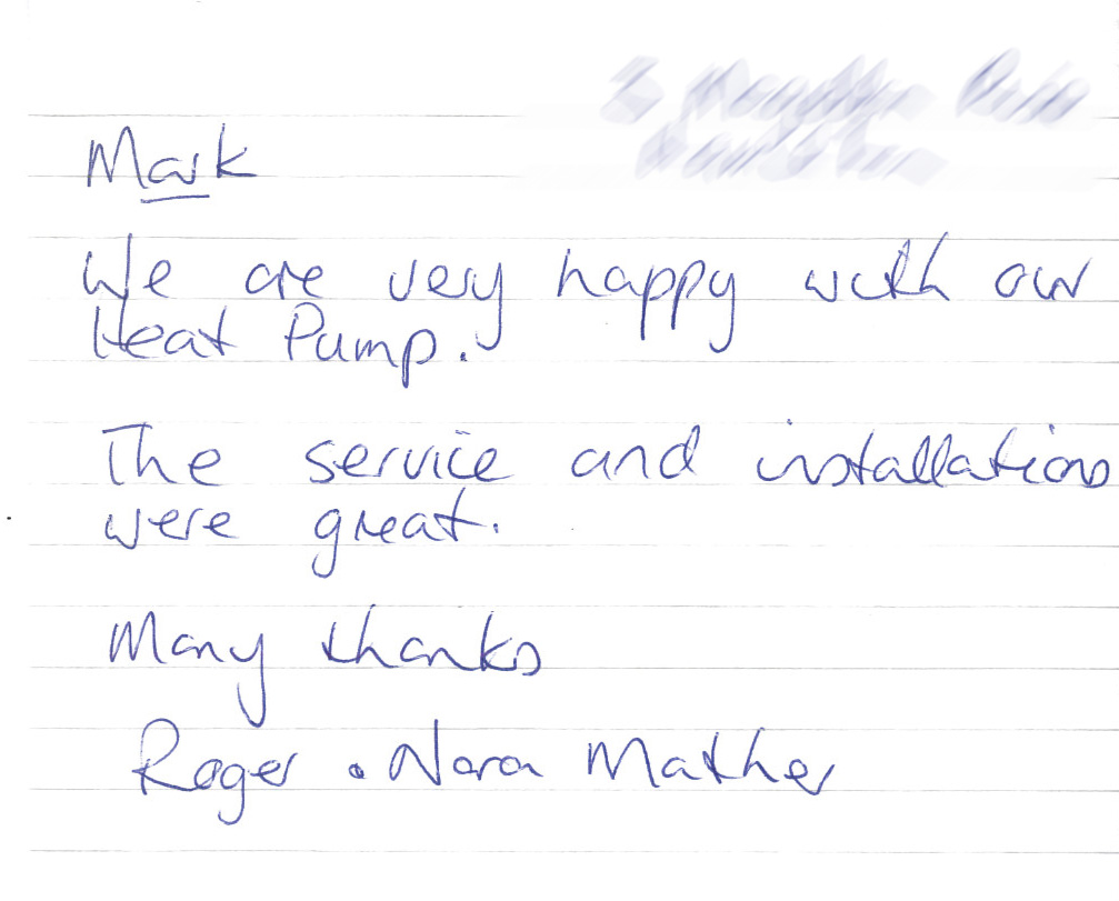 Heat Pump Shop Testimonial